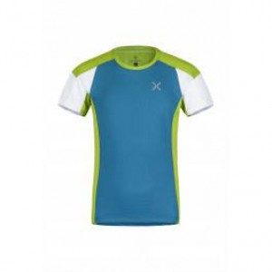 Montura Outdoor Style T-shirt Kids Cielo /verde Acido